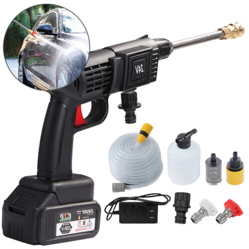 Portable Cordless Pressure Washer Power Cleaner W/ 24V Battery & Charger US