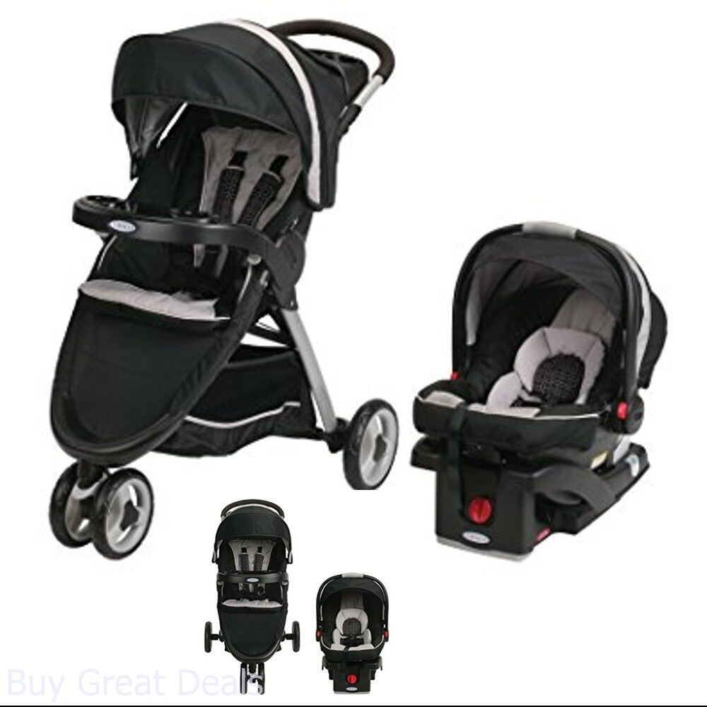 d9b692337025 Details about Graco Fastaction Fold Sport Click Connect Travel System