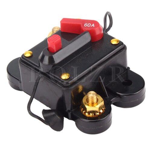 12v 60a coupe circuit remplacement porte fusible noir - Remplacer porte fusible par disjoncteur ...