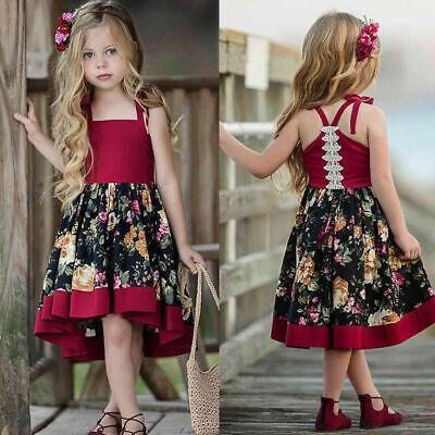 Toddler Baby Kids Girls Summer Sleeveless Dress Princess Par