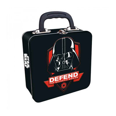 OFFICIAL STAR WARS DARTH VADER EMBOSSED METAL LUNCH TIN TOTE BOX NEW