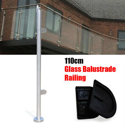 110cm End Post with Top Seat Stainless Steel Balustrade Posts Garden Handrail