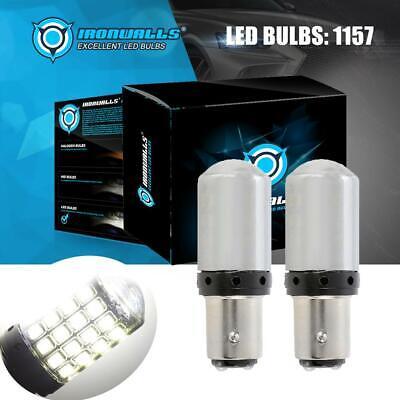 Super Bright 1157 LED White Turn Signal Parking Light Bulb 2000LM 20W Set 6000K Led Turn Signal Set
