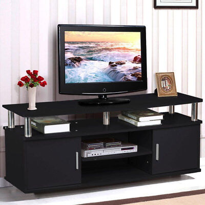 Tv Stand Entertainment Center Media Console Home Furniture Storage Wood Cabinet