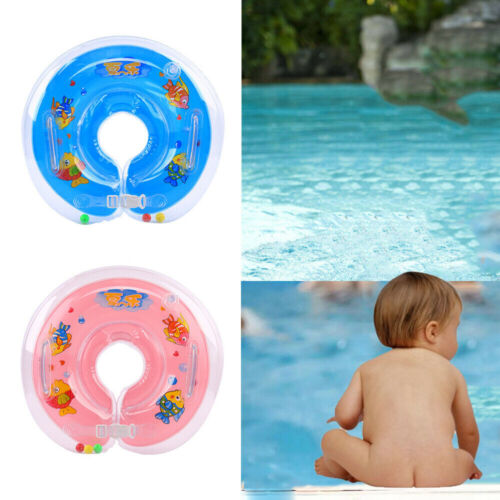Baby Swimming Neck Float Inflatables Ring Adjustable Safety Aids 1-18 Months Toy