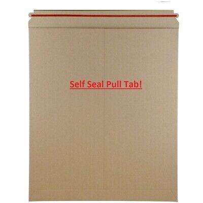 Self Sealing Stay Flat Rigid Kraft 12.75 X 15 Cardboard Mailer - Box Of 100