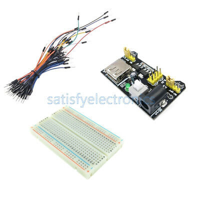 65pcs Jump Cable Wiresmb102 400 Point Solderless Pcb Breadboardpower Supply Sf