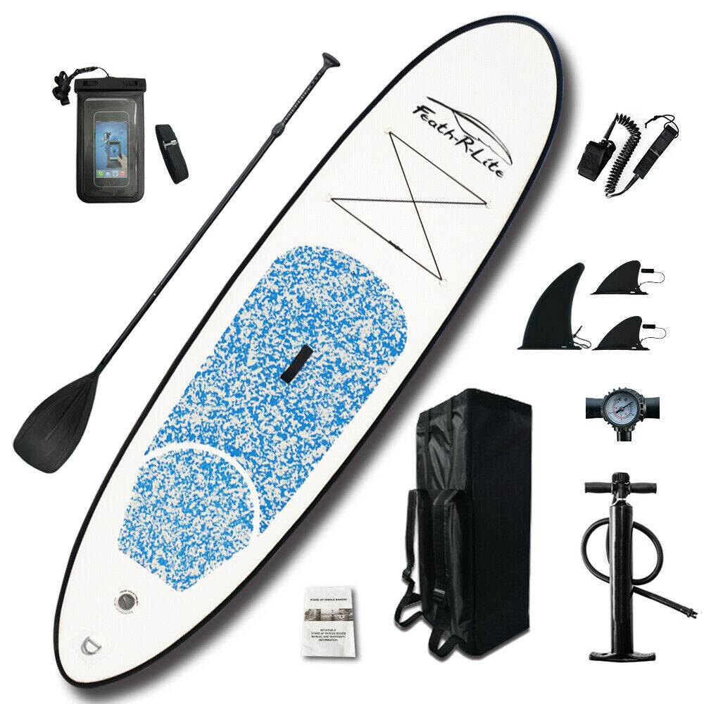 "SUP Inflatable Stand Up Paddle Board 10'x30""x4"" w/Ad Paddle,"