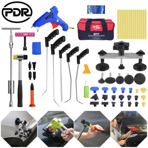 Paintless Dent Repair Push Rods PDR Tools Puller Lifter Line Board Removal 61pcs
