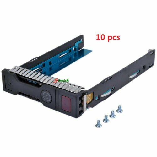 "10X 3.5"" LFF SAS SATA HDD Tray Caddy for HP Proliant Gen8 Gen9 server 651314-001"