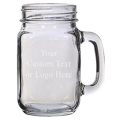 Laser Engraved Beer - Custom Laser Engraved 16 oz Glass Mason Jar Mug for Beer Tea Drinks Alcohol