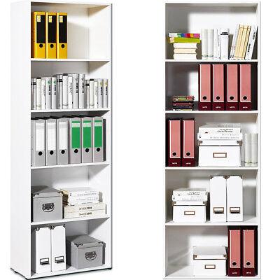 Bücherregal weiß Holzregal Standregal Wandregal Aktenregal Regal Holz 192x60cm