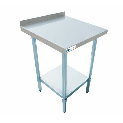 24 X 24 Stainless Steel Commercial Work Table 1 12 Backsplash