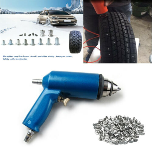 1000x Winter Wheel Car Tires Studs Screws + Air Gun For ATV Car Motorcycle Tire