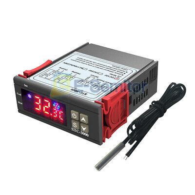 Stc-3000 Digital Display Dc12v Temperature Humidity Controller Thermostat Sensor