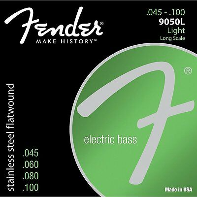 Fender 9050L Stainless Steel Flatwound Long Scale Light Bass Strings (45-100)