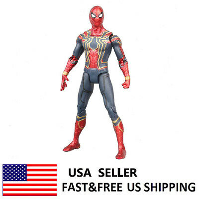 Marvel Spiderman Avengers Infinity War Iron Hero Action Figure Model Kids Toy
