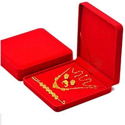 Jewelry Set Velvet Box Necklace Earring Ring Bracelet Gift Display Case Wedding