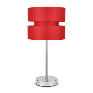 Modern chrome red touch dimmer lounge bedside table lamp lights lamps ebay - Dimmer bedside lamp ...