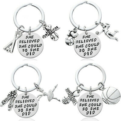 Sports Football Keyring Basketball Keychain Graduation Gifts For Her Key Chains