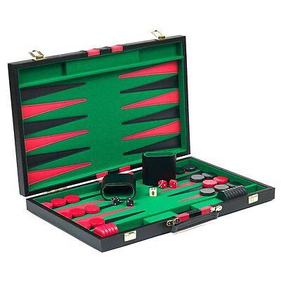 Vegas Backgammon Set, Black, 21 inches and up