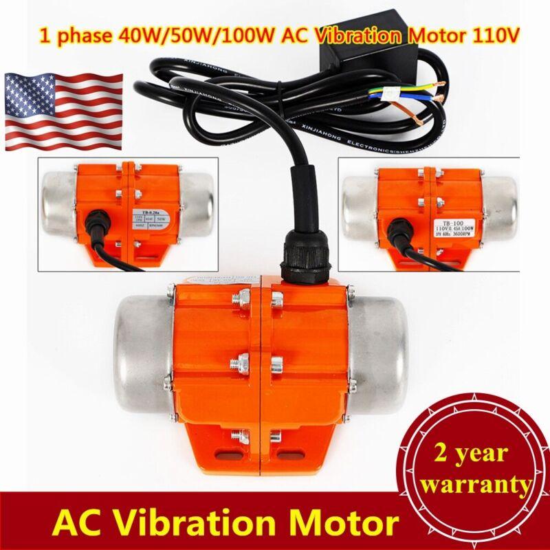 AC Vibration Motor 40/50/100W Vibrating Asynchronous Vibrator 3600 RPM USA