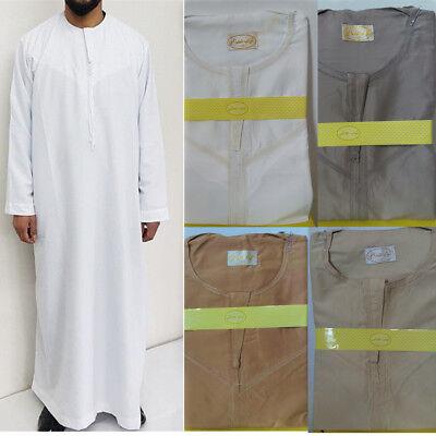 Islam Men Jubba Thobe Muslim Daffah Abaya Robe Saudi Arab Kaftan Dishdasha - Arabian Dress Men