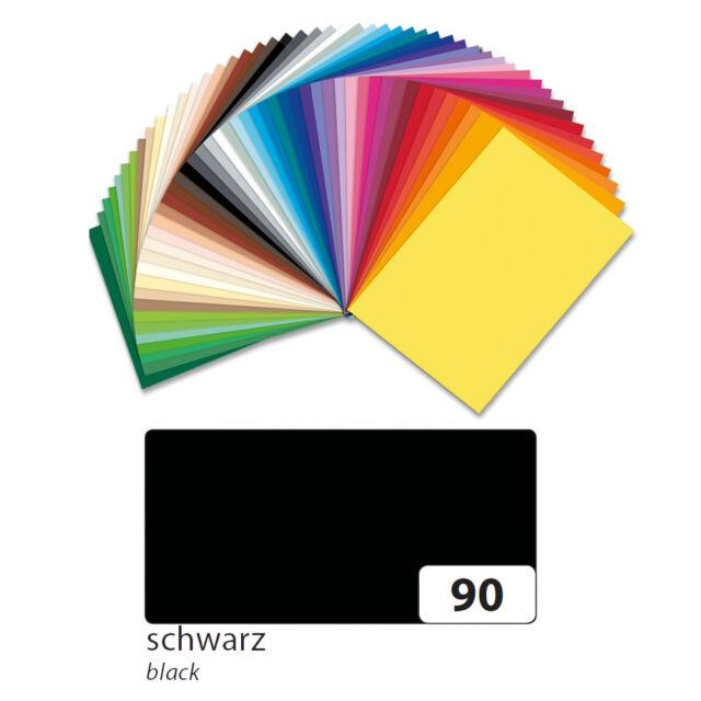 Fotokarton 10er Pack 300g/qm 50x70 cm, Schwarz
