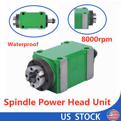8000rpm Bt30 Spindle Unit Cnc Auto Tool Change Power Milling Head Waterproof 2hp