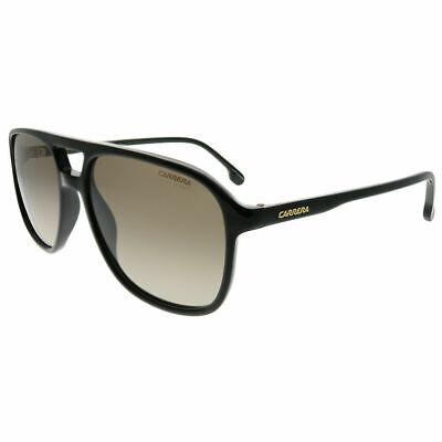 Carrera 173/S 807 HA Black Plastic Aviator Sunglasses Brown Gradient (Carrera Black Aviator Sunglasses)
