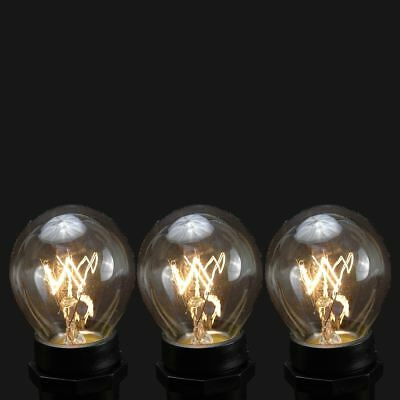 25 Pack S11 Outdoor Patio Globe Replacement Bulbs, Clear, C9/E17 Base ()