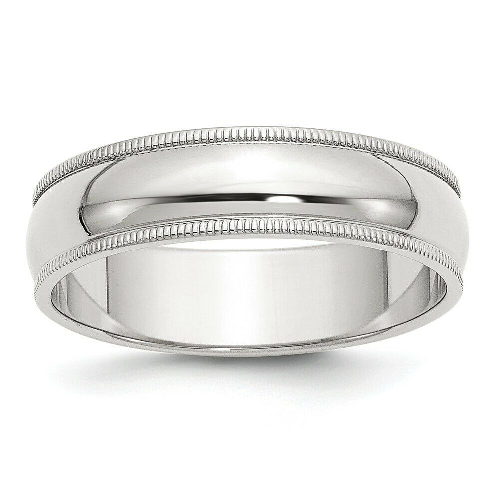 Jewelry Stores Network 7mm Milgrain Comfort Fit Sterling Silver Wedding Band