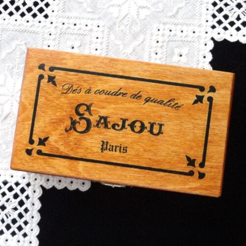 """French Wooden Storage Box - """"Thimbles"""""""
