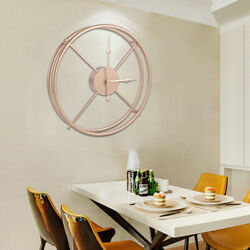 40cm Modern Wall Clock Metal Iron Antique Home Decoration Living Room Office USA