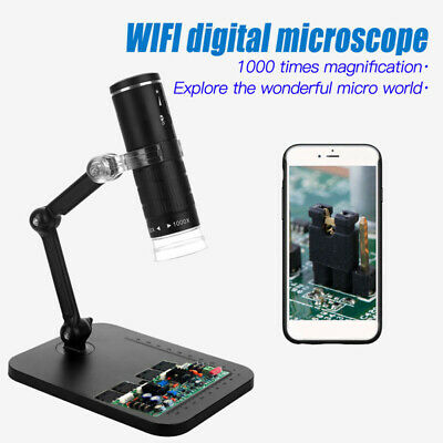 1000x Wifi Usb Digital Microscope Magnifier Camerastand For Android Ios Iphone