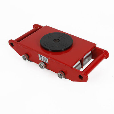 8ton17600lb Machine Dolly Moving Skate Roller Machinery Mover Wsteel Wheel Red