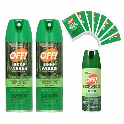 OFF! Deep Woods Dry Insect Spray and Towelette's, Repels Mos