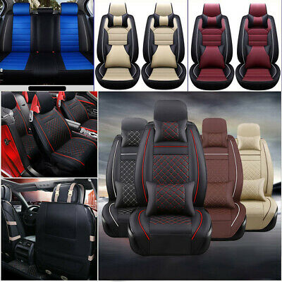 11Pcs Car Seat Cover Protector+Cushion Front & Rear Full Set PU Leather Interior Chevrolet Malibu Car Seat Cover