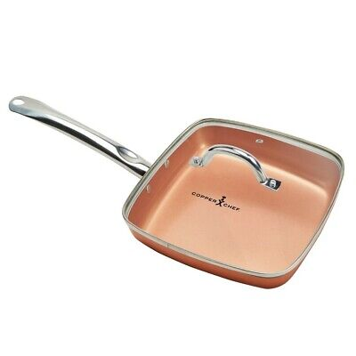 As Seen on TV Copper Chef Square Pan with Glass Lid 9.5