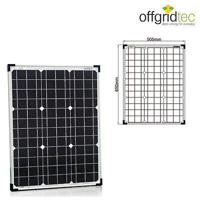 Offgridtec® 50W 12V monokristallines Solarpanel Solarzelle Solarmodul - 50 Watt