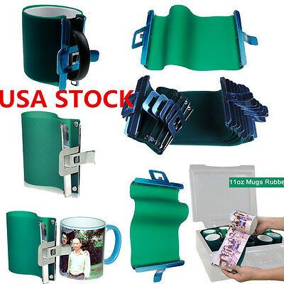 Usa 5pcs 3d Sublimation 11oz Silicone Mug Wrap Heat Press Mug Clamp Fixture