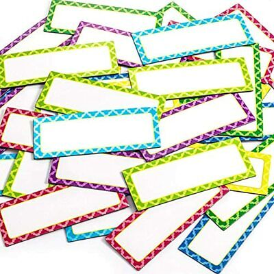 40 Pieces Magnetic Dry Erase Labels 3 X 1.2 Inch Name Plate Writable Flexible 8