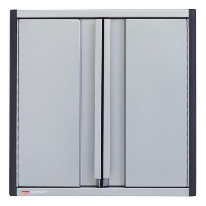 Rubbermaid FastTrack 5 Piece 24 Inch Garage Tool Cabinet Kit Rail Storage System