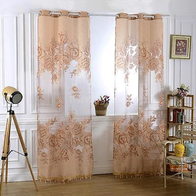 Modern Room Tulle Voile Door Window Curtain Drape Panel Sheer Scarfs Valances