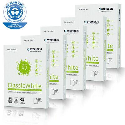 2500 Blatt Premium Steinbeis Recycling Kopierpapier DIN A4 80 g/m² Druckerpapier