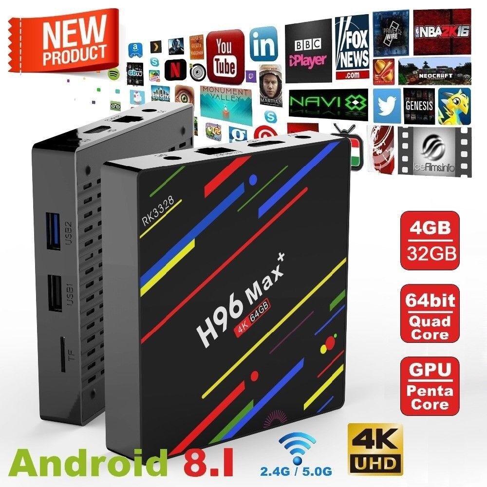 H96 Max plus+ 4GB+32GB Android 8 1 Smart TV Box IPTV OPEN BOX Quad-Core  WiFi 4KHD Media Player | in Bradford, West Yorkshire | Gumtree