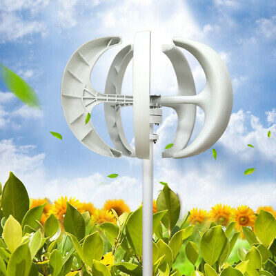 Wind Turbine Generator 600w 24v Wcontroller Wind Power Axis Vertical 5 Blades