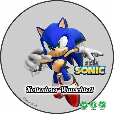 tstag Tortenbild Zuckerbild Oblate Sega Sonic 02 (Sonic Geburtstag)