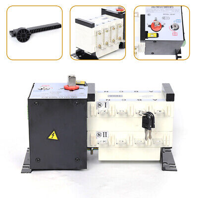 Automatic Dual Power Transfer Switch 160a 4p For Generator Changeover Switchs