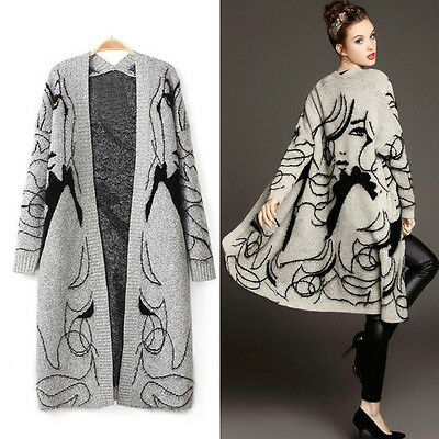femme pull cardigan chandail tricot manteau veste automne hiver cape poncho mode ebay. Black Bedroom Furniture Sets. Home Design Ideas